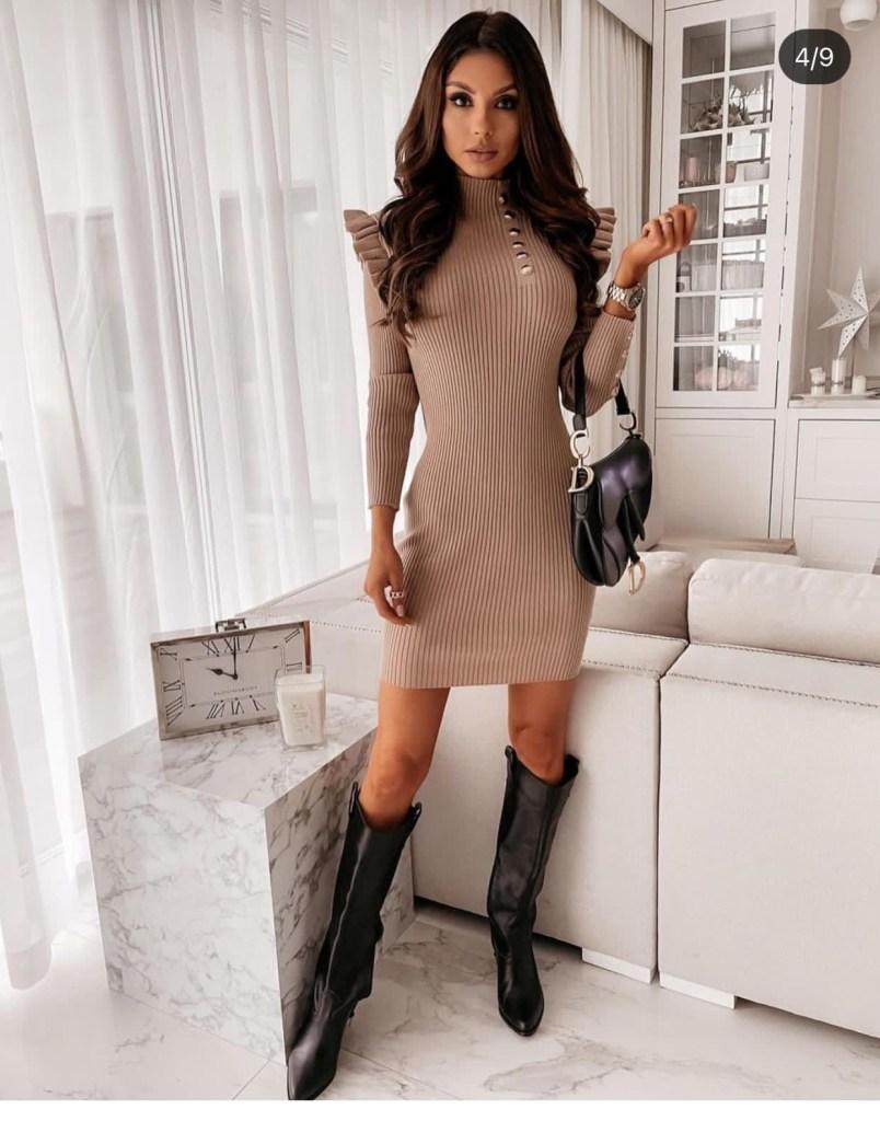 vestito corto in maglia - Gogolfun.it