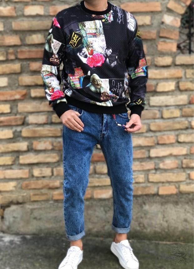 Jeans uomo corpped - lavaggio particolare - Collezione gogolfun.it