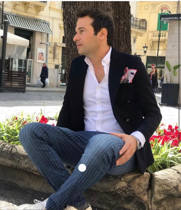 Jeans uomo gessato, modello chino - Key Jey  - Acquista da Gogolfun.it