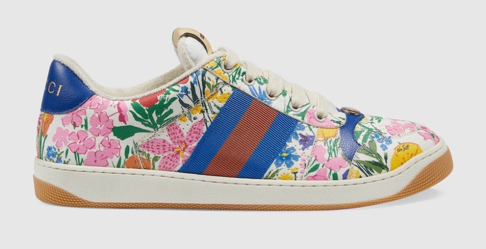 Sneaker gucci - stampa floreale