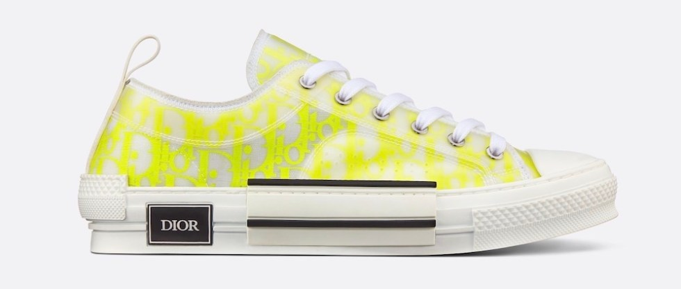 Sneakers Dior con logo fluo