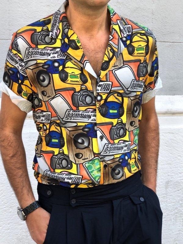 Camicia mezza manica,  uomo una passione
