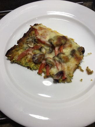 Zucchini Crust Pizza, any toppings you like, scrumptious