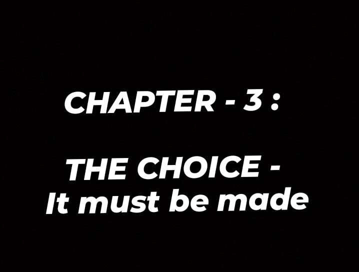 CONJUGATE – CHAPTER 3: THE CHOICE!