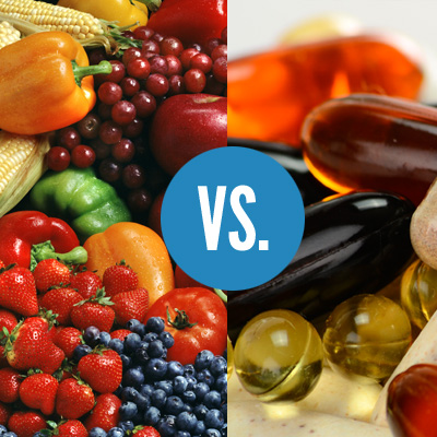 NUTRITION FROM WHOLE FOODS OR SUPPLEMENTS