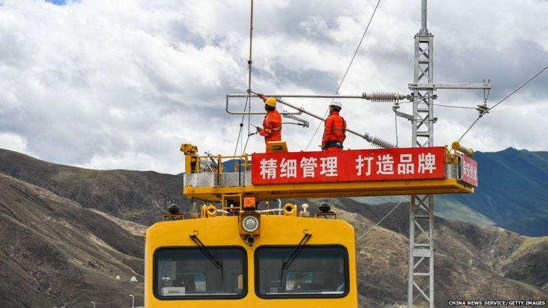 China's Railway Line close to Arunachal Pradesh Border