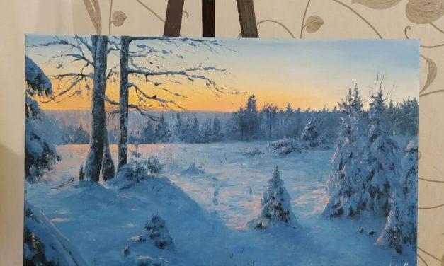 Winter Evening – @katya_art.cat