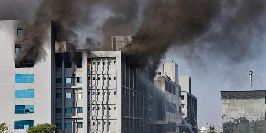 Fire breaks out at Covishield Serum Institute at Pune
