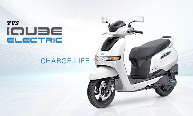 TVS e-scooter iQube electric launched in India at Rs. 1.08 lakh