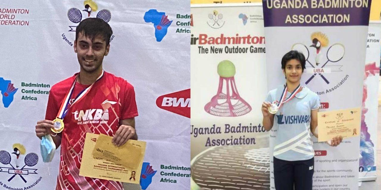Indian shuttlers Varun, Malvika clinch gold medals at the 2021 Uganda International