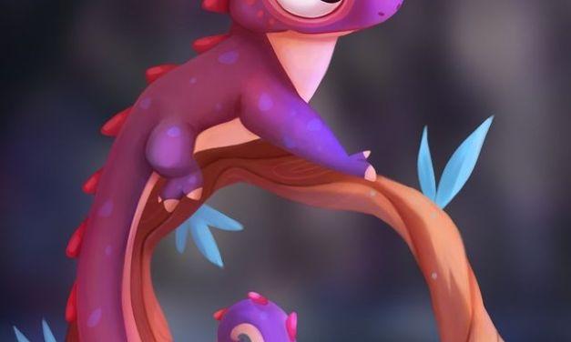 Purple Spiked Lizard – @chiara.moreni