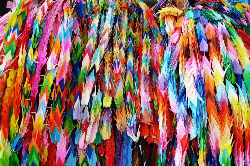 Origami colorati di Hiroshima