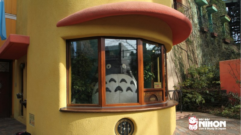 Big Totoro at the entrance of the Ghibli Museum