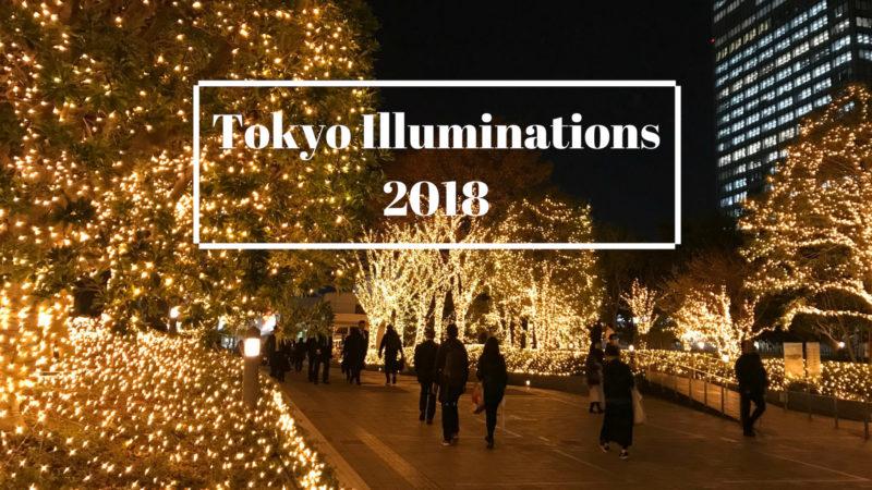 julbelysning i Tokyo 2018