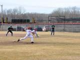 Dawson Community College Baseball Tanner Fischer Pitches