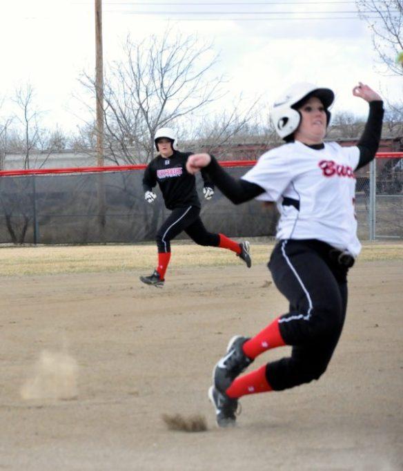 Dawson Community College Softball Run the Bases. April 3, 2015. Copyright Go Gonzo Journal.