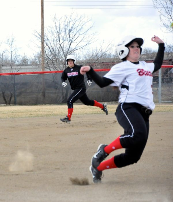Dawson Community College Softball Run the Bases. April 3, 2015. Copyright Go Gonzo Journal.