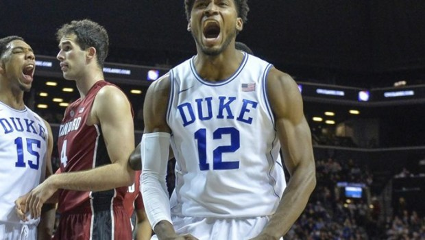 Justise Winslow and Jahlil Okafor of Duke