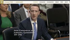 Mark Zuckerberg Joint Commerce and Judiciary Committee Screenshot