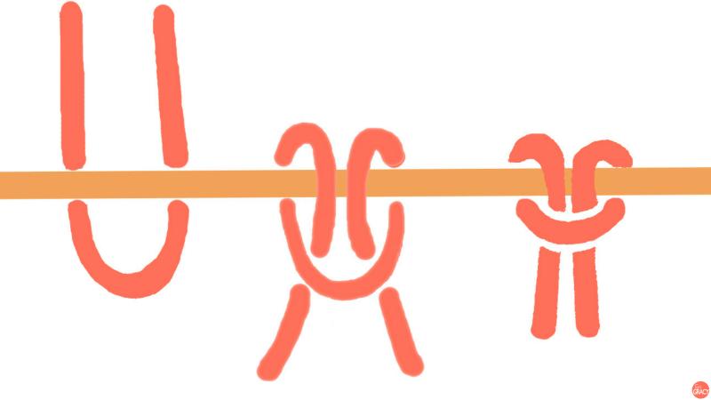 Macramé basisknoop opzetlus opzetknoop
