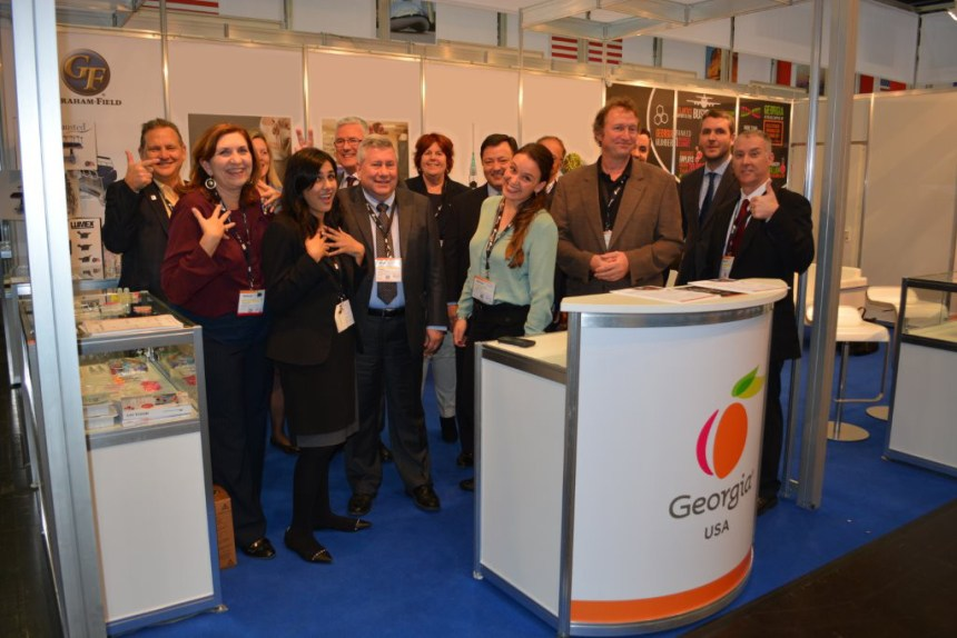 Graham-Field celebrates being one of the companies representing Georgia in Germany (2015)