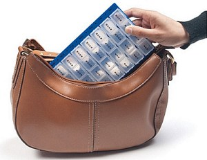 pill organizer lumex graham field purse