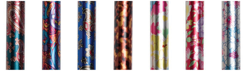 Graham-Field canes come in a variety of fashionable colors.
