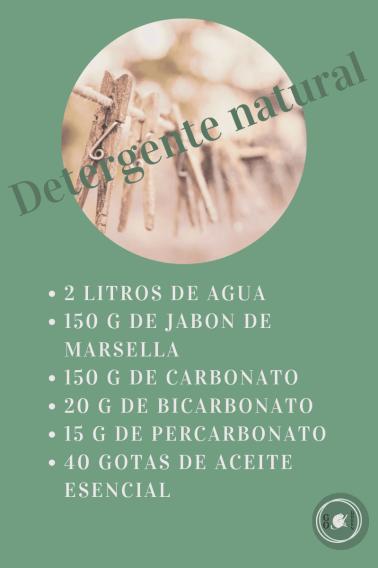 receta del blog go green madrid - detergente natural para la ropa
