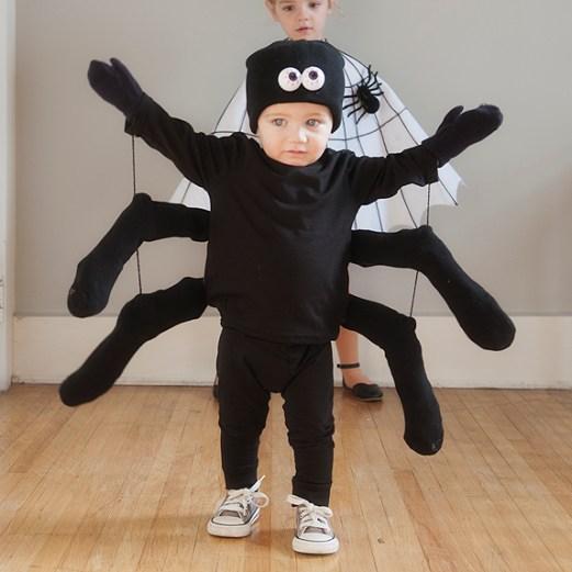 disfrace de halloween cero residuos del blog go green madrid con medias rotas, disfrace de araña