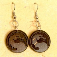 Coconut Shell Earrings-ECNP15 | GoGreenMeans.com