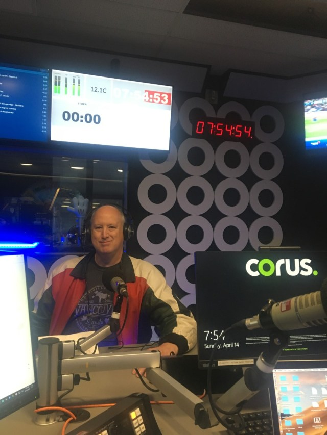 In the CKNW studio, Vancouver, April 14, 2019