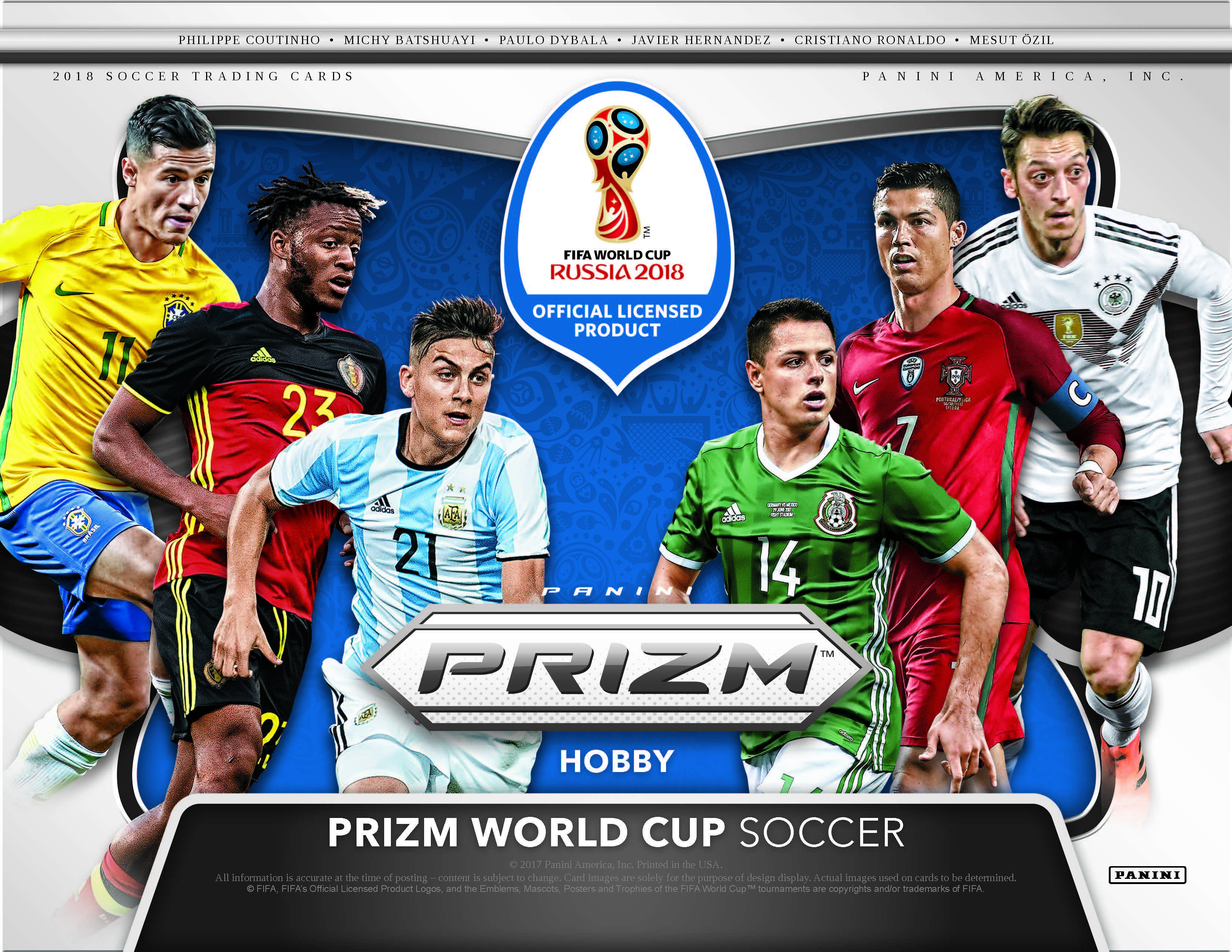 Panini Prizm World Cup Soccer Cards Gets Ready For Russia