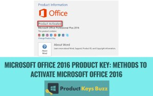Office 2016 Activation Key