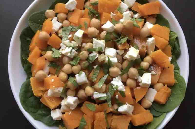 Butternut squash, chickpeas and feta salad