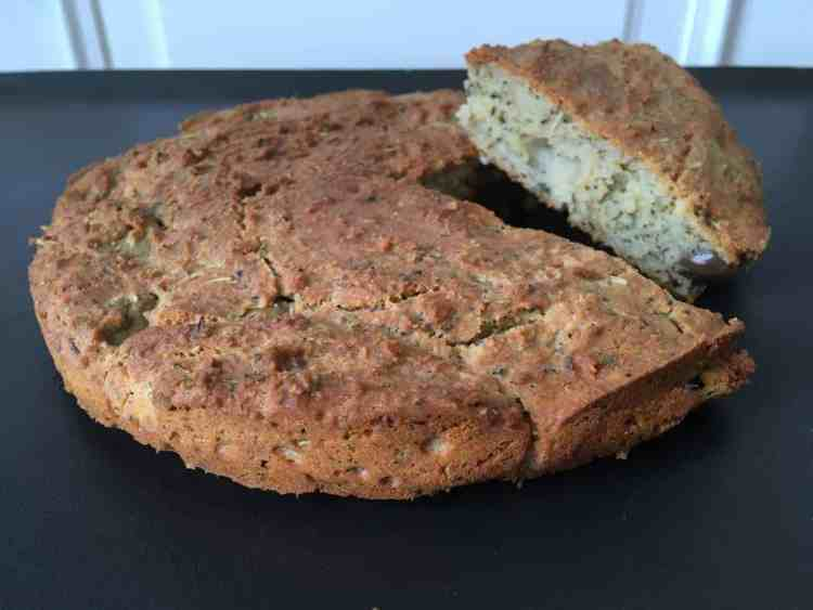 Olive fougasse bread