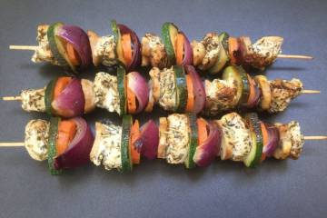 3 chicken kebabs