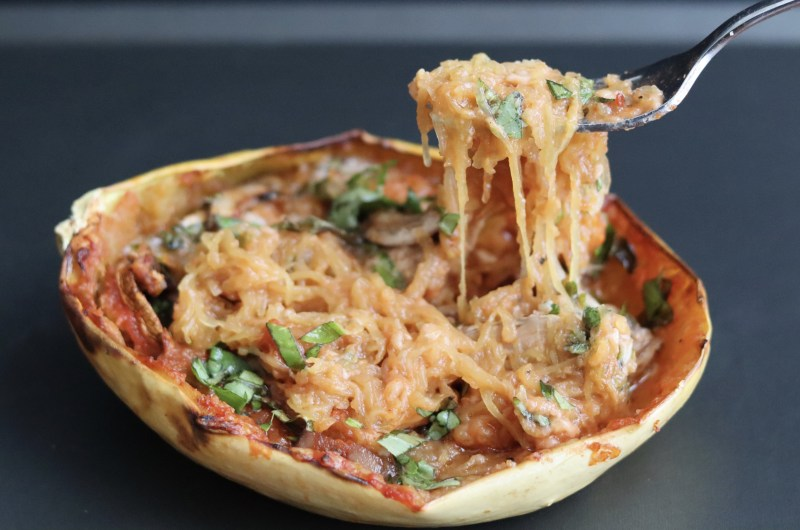Stuffed spaghetti squash (gluten free)