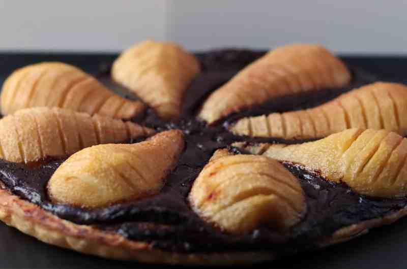 Pear and chocolate pie (gluten free, paleo, vegan)