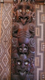 Maori CaCarvings Interior Meeting House