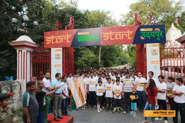 LRSM flagging off the 5km runners