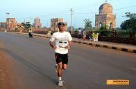 Running past the Ali Barid Tombs