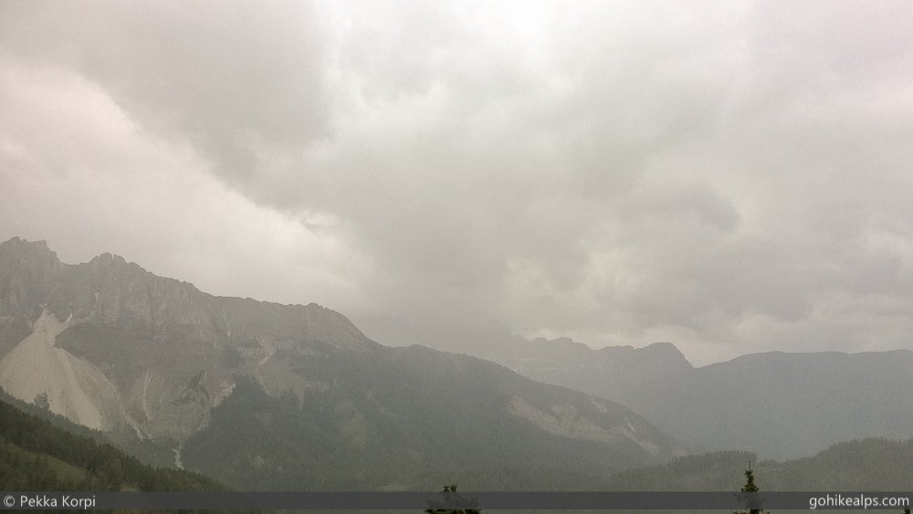 Rainy Day On Dolomites Alta Via 2