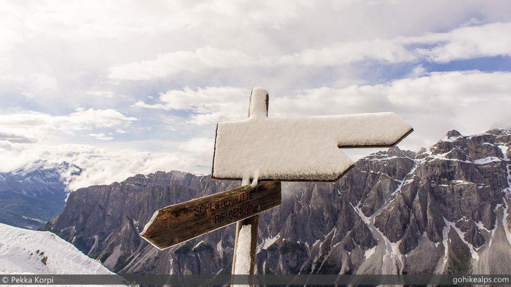 Morning Snow Near Rifugio Genova
