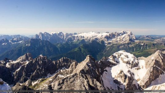 View South from Marmolada
