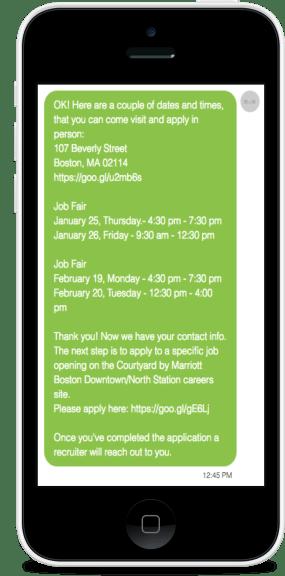 Job Fair Registration chatbots