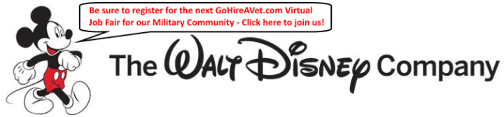Walt-Disney-with-Mickey-Mouse-with-GoHireAVet-Job-Fair-Registration