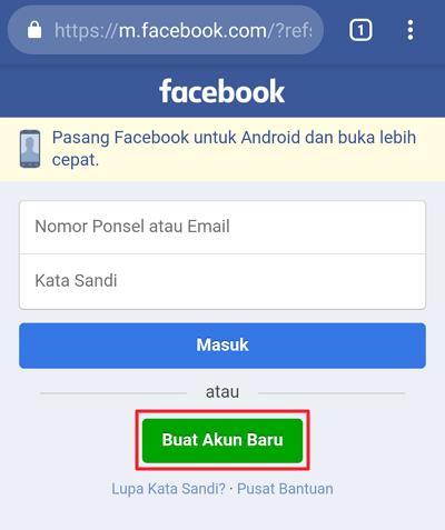 Cara Membuat Facebook di HP Android Lengkap Beserta Langkah-langkanya