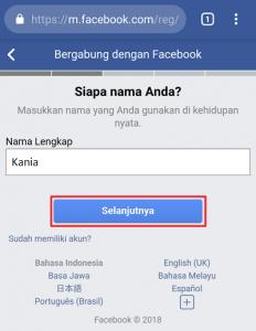Cara Membuat Mendaftar Akun Facebook di HP
