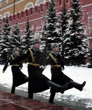 Little yolki guard the Kremlin walls