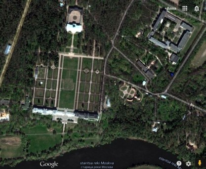 Archangelskoye - satellite view